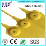 Shandong-Plastikdichtungs-Fabrik-Fertigung-Gelb-Plastikdichtung mit Metalleinspritzung