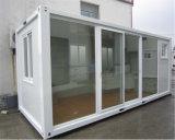 Het uiterst kleine Huis van de Container met de Schuifdeur van het Glas