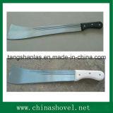 Machete en acier à la canne à sucre avec poignée en bois et en plastique M206A