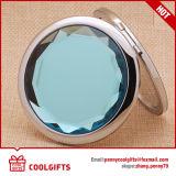 Le double a dégrossi autour du miroir de main compact pour le cadeau de mariage promotionnel