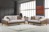 Sofá de couro da sala de visitas 1+2+3 comerciais modernos ajustado (HC6375)