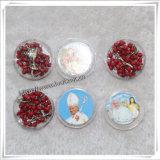 La plastica borda il rosario, rosario di plastica, rosario dei branelli, branelli religiosi (IO-cr228)