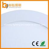 El panel ligero casero redondo blanco puro de aluminio de fundición a presión a troquel aprobado RoHS del montaje LED de la superficie de la iluminación de la lámpara 18W del techo del Ce