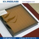 Glace enduite isolante en verre de sûreté en verre de flotteur de double en verre inférieur en verre r3fléchissant de l'argent E pour la construction