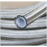 304 ss che intrecciano il tubo flessibile di Teflon da 3/8 di pollice PTFE