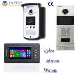 ドアリリースが付いているビデオ通話装置のための手製のビデオドアの通話装置