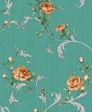 Precio grabado del papel pintado del vinilo del alto grado 2016 con la flor