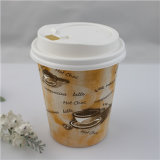 Lid Cover를 가진 Hot Drink Disposable Double Wall Paper Cup를 주문을 받아서 만드십시오
