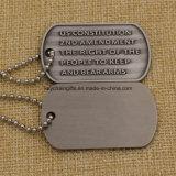Étiquette de crabot gravée en relief par métal fait sur commande de promotion pour les hommes