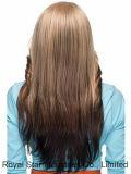 Perruque inclinée de vente chaude de coup de long gradient africain de cheveu bouclé