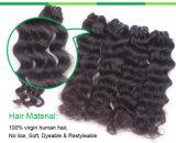 Uitbreiding van het Menselijke Haar van het Haar van de Golf 5A/6A/7A van de rang de Diepe Maagdelijke Braziliaanse