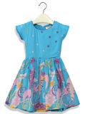 Vestito da posizione del fiore della ragazza di modo in bambini che coprono Sqd-148