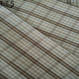 의복 셔츠 복장 Rls40-40po를 위한 면 포플린 길쌈된 털실에 의하여 염색되는 직물