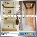 Bege Travertine Bathroom Surrounding for Bath Decoration