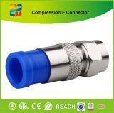 니켈 Plated Brass Material의 Frg6 F Type Compression Connector