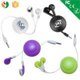Los receptores de cabeza estéreos retractables de la promoción caliente venden al por mayor el auricular para el jugador de MP3 del teléfono móvil