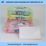 Nonwoven使い捨て可能な綿の顔ティッシュ及び赤ん坊のワイプ、工場価格