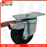 Waste résistant Bin Casters avec Ductile Iron Wheel