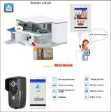 Doorbell video permitido Wi-Fi, interfone do monitor da câmera da porta da segurança 720p Home com o receptor interno para Smartphones e tabuletas