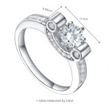 L'OEM ha accettato il disegno trasversale dell'anello dell'argento sterlina 925 (R-0492)