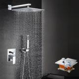 Jogo ajustado do banheiro do chuveiro de bronze gama alta do teto do misturador do chuveiro
