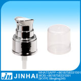 18/410 di pompa cosmetica di placcatura UV d'argento con la grande protezione rotonda