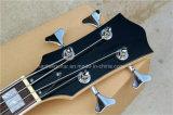 Гитара шнуров Hanhai 4 померанцовая электрическая басовая с телом акрилового стекла
