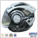 Чисто белый половинный шлем мотовелосипеда (OP201)