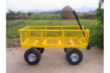 Wheelbarrow de jardinagem resistente de quatro rodas do transporte (Tc1804)
