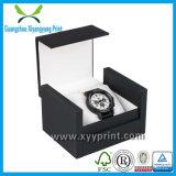 Caixa de empacotamento do relógio luxuoso feito sob encomenda do cartão com veludo