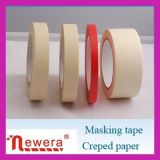 粘着テープを覆う残余のクレープ紙の絵画無し