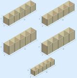 Сваренный бастион Hesco, барьер Hesco, защитительный барьер