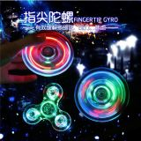 Adulte Roulement Cristal Luminous Lighting LED Hand Fidget Jouets Spinners