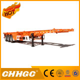 Semi-Trailer de esqueleto de alta elasticidade do recipiente 3axle de Chhgc 40FT