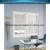 Ventana de aluminio con obturador / Rejilla y vidrio templado