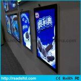 壁の台紙の表示によってバックライトを当てられる磁気ライトボックスポスターフレーム
