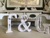 Письма домашнего украшения свободно стоящие белые деревянные