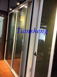 Porte coulissante en aluminium, porte d'accordéon en aluminium, porte en aluminium Forcommercial en métal de porte de patio et construction résidentielle