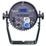세륨 Powercon 호리호리한 알루미늄 주거를 가진 승인되는 콤팩트 RGBWA UV 단계 빛 LED 동위