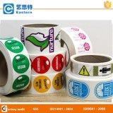 Plastikcup-Firmenzeichen-Aufkleber in der Rolle