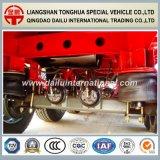 De 3 essieux de suspension rouge d'air de faisceau de lit plat remorque droite semi