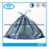 Sac d'ordures en plastique de détritus de cordon de PE
