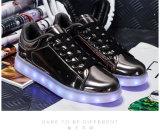 [لد] يشعل أحذية [لد] فوق [شو منوفكتثرر] مصنع ممون