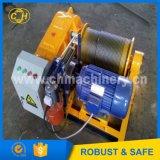 Cabrestante de cable de acero que tira del cable subterráneo