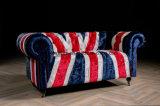 Weinlese-elegante Art-Union- Jackgewebe-Sofa für Wohnzimmer