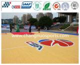 Жизнерадостная баскетбольная площадка PU Slicon деревянной картины текстуры
