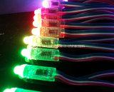 옥외를 위해 RGB LED 점 빛 12mm 5V를 프로그램하는 색깔
