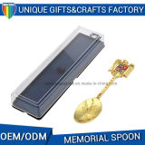 Il cucchiaio nichelato in lega di zinco del metallo del regalo del ricordo della pressofusione