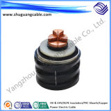 Hv & Ehv/XLPE Insulation/Corrugated Al/PVC and PE Sheath/Electric Power Cable