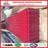 Tôle d'acier ondulée galvanisée colorée de PPGI